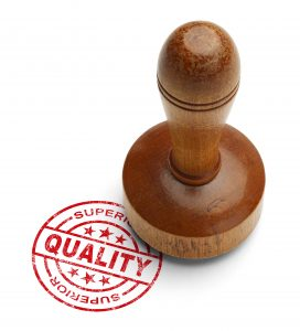 Red superior quality stamp with wooden stamper